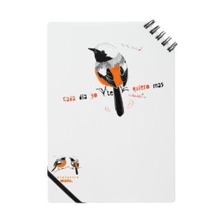 MARU ジョビとジョバ まるい小鳥 ジョウビタキ ヒタキ イラスト Notes
