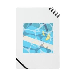 夏のプールに飛び込んだ(レモン) Notebook