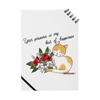 花束とニコニコ猫ちゃん Notes