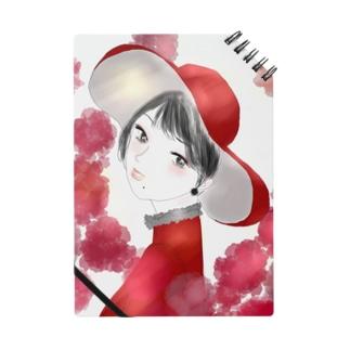 カーネーションと紅色に染まる Notebook