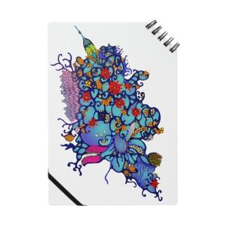 文房具☆『赤花のギョギョ』  Notes