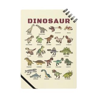 ちょっとゆるい恐竜図鑑 (背景カラー) Notes