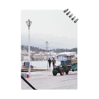 ギリシャ:エギナ島の波止場の風景写真 Greece: Harbor view of Egina Is. Notes