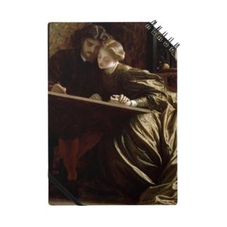 世界の絵画アートグッズのフレデリック・レイトン  《画家のハネムーン》 Notebook