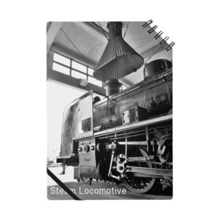 扇形車庫にスタンバイ中のSL (蒸気機関車) Notebook