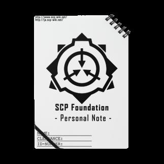 トランジスタ@ SCP FoundationのSCP財団ロゴグッズ-ノート黒[SCP Foundation] Notes