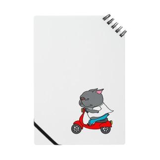 自分のバイクで走り出すフレブル。クロ。 Notebook