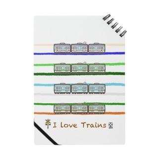 竜の工房・翔 -SUZURI SHOP-のI Love Trains 横浜駅で見られるかも編 Notebook