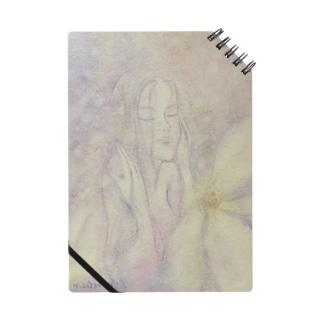 真っ白なお花のノート Notes