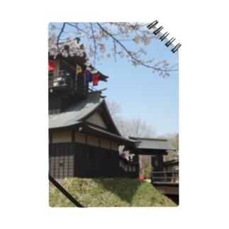 日本の城:桜咲く逆井城の春景色 Japanese castle: Sakasai castle & cherry flowers Notes