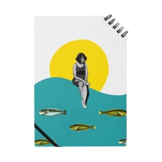 コラージュ 魚 海 Notes