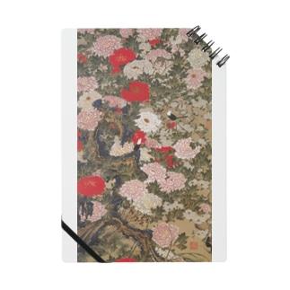 伊藤若冲《牡丹小禽図》 Notebook