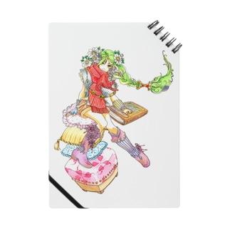 緑の髪の女の子(ノート) Notes