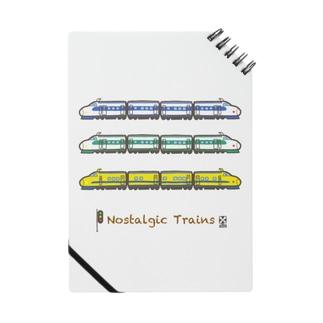竜の工房・翔 -SUZURI SHOP-のNostalgic Trains Notebook