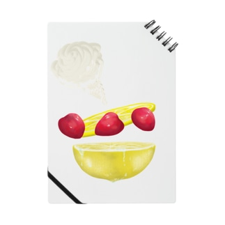 strawberry and lemon Q Notebook