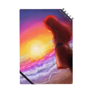 海と女性 ノート