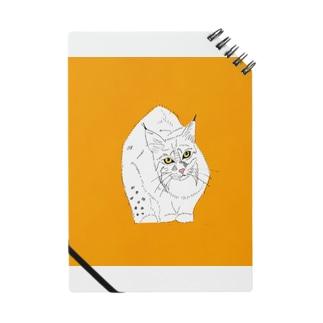 ボブキャット イラスト グッズ  野生猫 ネコ科 猫科 野生動物 イラスト Notes