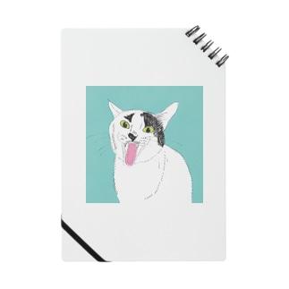 てんベロ出し みーこ&てん  猫 白黒猫 イラスト 保護猫 Notes