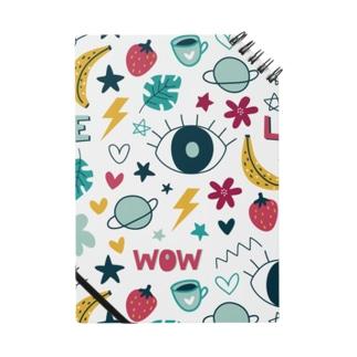かわいいを集めたデザイン Notebook