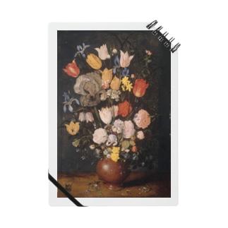 ブリューゲル 陶器の花瓶に入った花 Notes