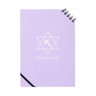 クロスロゴ(白)/背景紫 Notes
