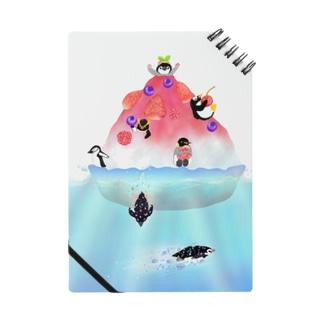 Lily bird(リリーバード)のかき氷島のペンギンたち Notebook
