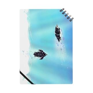 海のペンギン 縦長 Notebook