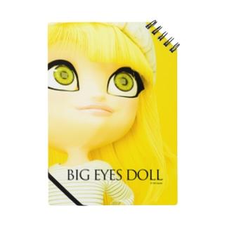 BIG EYES DOLL yellow Notes
