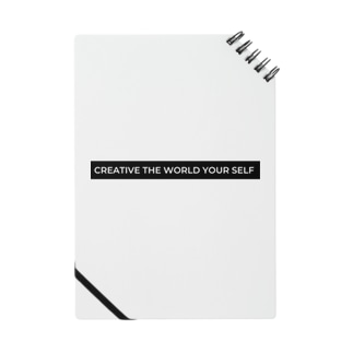 creative the world your self:(黒) Notebook