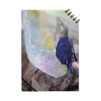 切り絵・鳥とハイヒール ノート