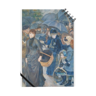 世界の絵画アートグッズのピエール=オーギュスト・ルノワール 《雨傘》 Notebook
