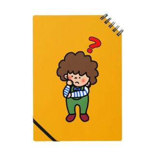 アフロのあっちゃん ハテナノート(オレンジ) Notebook