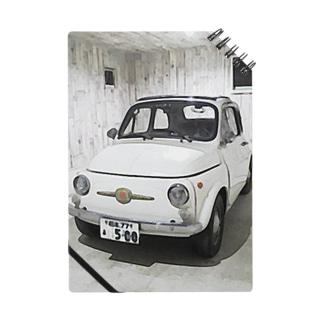 FIAT500 in garage ノート