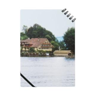 スイス:ルツェルン湖の別荘 Switzerland: House with a boat hut Notebook