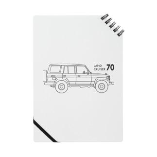 ランドクルーザー70のイラスト Notebook