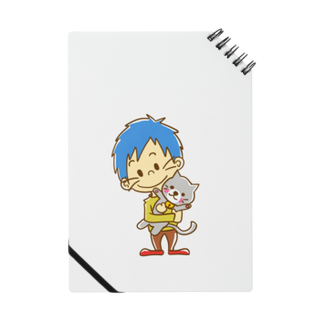 武器屋ネコヒゲ(グッズ)のネコを抱く男の子 Notes