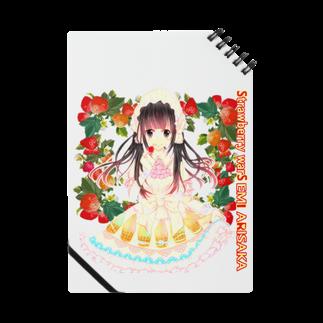 有坂愛海ショップのStrawberry warS  EMI ARISAKAノート