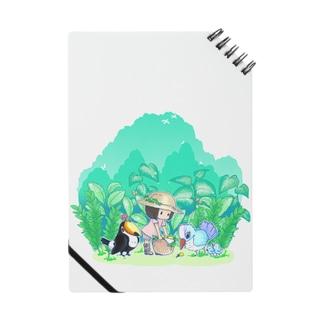 植物と鳥と女の子。ノート ノート
