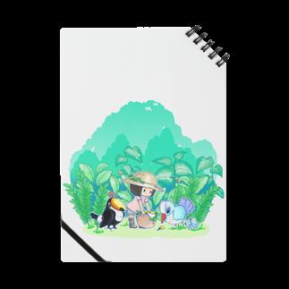 柚子屋の植物と鳥と女の子。ノート Notes