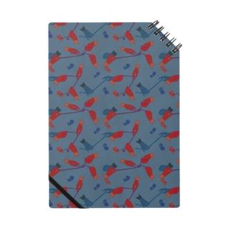 テープくちゃくちゃ ブルー Notebook