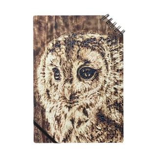 木のぬくもり フクロウ Notebook
