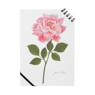ピンクのバラ Pink Rose 01 Notebook