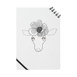 花飾りのキリンらくがきver.グッズ ノート