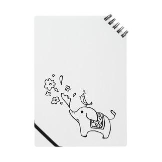 ゾウさんとお花 Notebook
