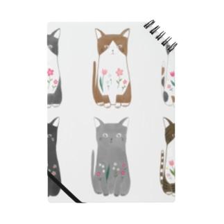 6匹の猫ちゃん Notebook