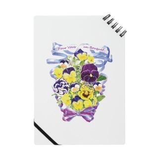 花束を君に ボタニカルアート 花柄 ノート Notes