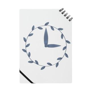 時計/grass Notebook