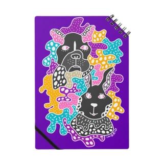 フレンチブルとウサギ Notebook