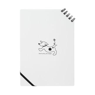 hitofudegaki-DOG(雑貨) Notebook
