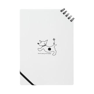hitofudegaki-DOG(立ち耳)(雑貨) Notebook